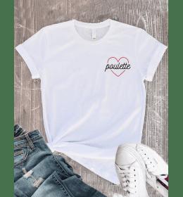 T-shirt Femme COEUR POULETTE