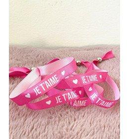 Bracelet satin Je t'aime